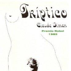 Libros de segunda mano: TRÍPTICO ////// CLAUDE SIMON.. Lote 16298482