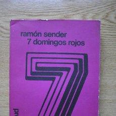Libros de segunda mano: SIETE DOMINGOS ROJOS. SÉNDER (RAMÓN J.). Lote 16196336