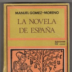 Libros de segunda mano: COLECCION LA VELA LATINA Nº 28. LA NOVELA DE ESPAÑA POR MANUEL GOMEZ MORENO. EDICIONES JUCAR 1ª ED.. Lote 19994542