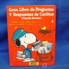 Libros de segunda mano: GRAN LIBRO DE PREGUNTAS Y RESPUESTAS DE CARLITOS (CHARLIE BROWN)GRIJALBO 1983. Lote 63883590