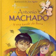 Libros de segunda mano: 4 POEMAS DE ANTONIO MACHADO Y UNA TARDE DE LLUVIA. ANTONIO MACHADO.. Lote 21236517