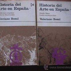 Libros de segunda mano: HISTORIA DEL ARTE EN ESPAÑA, 2 TOMOS, VALERIANO BOZAL, ISTMO, 1973. Lote 17315206