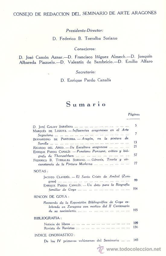 Libros de segunda mano: Seminario de Arte Aragonés V. Zaragoza, 1953. - Foto 2 - 17525813
