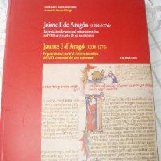 Libros de segunda mano: ARCHIVO DE LA CORONA JAIME I DE ARAGÓN (1208-1276). Lote 27014411
