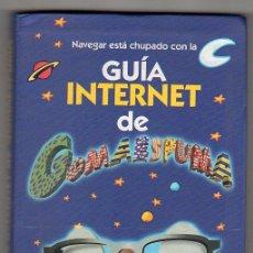 Libros de segunda mano: GUIA DE INTERNET DE GOMAESPUMA. EDITORIAL AGUILAR 1ª ED. MADRID SEPTIEMBRE DE 2000. Lote 17772476