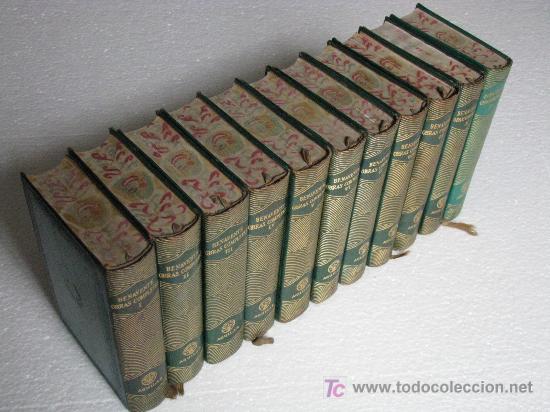 OBRAS COMPLETAS DE JACINTO BENAVENTE EN 11 TOMOS, PIEL, JOYA, AGUILAR, MADRID, AÑOS 1950 - 1958. (Libros de Segunda Mano (posteriores a 1936) - Literatura - Otros)