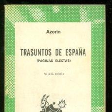 Libros de segunda mano: TRASUNTOS DE ESPAÑA. AZORIN. COLECCION AUSTRAL. ESPASA CALPE. 1980.. Lote 19867132
