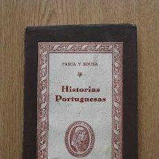 Libros de segunda mano: HISTORIAS PORTUGUESAS. FARIA Y SOUSA (MANUEL DE). Lote 18345308