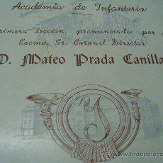 Libros de segunda mano: LIBRITO ACADEMIA INFANTERIA LECCION CURSO1964 VALORES MORALES EXISTENCIA EJERCITO M.PRADA CANILAS. Lote 27590011