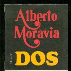 Libros de segunda mano: DOS. ALBERTO MORAVIA. UNA NOVELA FALICA. 1972. EDITORIAL GRIJALBO.. Lote 18682873