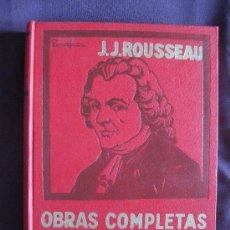 Libros de segunda mano: J.J.ROUSSEAU. OBRAS COMPLETAS. EMILIO O LA EDUCACIÓN.TOMO I. ED.LA BIBLIOTECA,BUENOS AIRES.. Lote 20070475