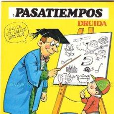 Libros de segunda mano: PASATIEMPOS INFANTILES DRUIDA1983 + DOS PARA COLOREAR. BATALLA EN LAS GALAXIAS, LA PREHISTORIA NUEVO. Lote 44843188