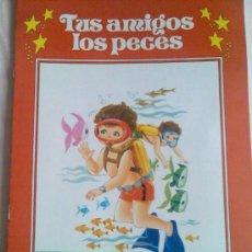 Libros de segunda mano: CUADERNO PARA PINTAR. COLECCIÓN GIGANTE INFANTIL Nº 7. TUS AMIGOS LOS PECES. GRAN FORMATO.. Lote 25733627