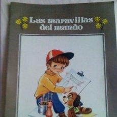 Libros de segunda mano: CUADERNO PARA PINTAR. COLECCIÓN GIGANTE INFANTIL Nº 9. LAS MARAVILLAS DEL MUNDO. GRAN FORMATO.. Lote 24214578