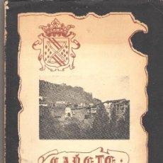 Libros de segunda mano: CAÑETE : HISTORIA Y LEYENDA 1978 - MIGUEL ROMERO SAIZ - REF. HIJOS NOTABLES DE CAÑETE. Lote 19405886