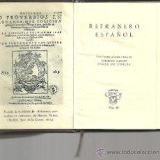 Libros de segunda mano: REFRANERO ESPAÑOL. FEDERICO CARLOS SAINZ DE ROBLES (SELEC.).. Lote 27410812