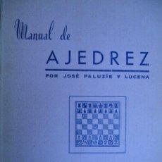 Libros de segunda mano: MANUAL DE AJEDREZ.JOSE PALUZIE Y LUCENA.PARTE 5 PROBLEMAS.1968.130 PG. Lote 19654308