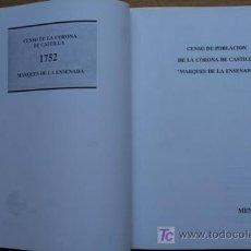 """Libros de segunda mano: CENSO DE POBLACIÓN DE LA CORONA DE CASTILLA """"MARQUÉS DE LA ENSENADA"""".. Lote 19675706"""