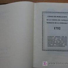 """Libros de segunda mano: CENSO DE POBLACIÓN DE LA CORONA DE CASTILLA """"MARQUÉS DE LA ENSENADA"""". TOMO II. NOMENCLATORES. Lote 19675730"""