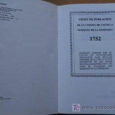 """Libros de segunda mano: CENSO DE POBLACIÓN DE LA CORONA DE CASTILLA """"MARQUÉS DE LA ENSENADA"""". 1752. TOMO I. MANUSCRITOS.. Lote 19675735"""
