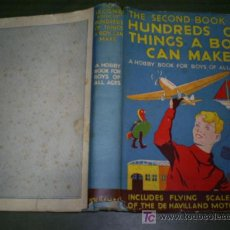 Libros de segunda mano: THE SECOND BOOK OF HUNDREDS OF THINGS A BOY CAN MAKE C. 1950 RM45163. Lote 21200890