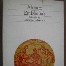 Libros de segunda mano: EMBLEMAS. ALCIATO. 1985. AKAL. Lote 20183464