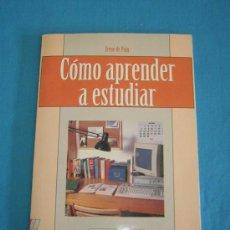 Libros de segunda mano: CÓMO APRENDER A ESTUDIAR - IRENE DE PUIG - CUADERNOS OCTAEDRO. Lote 142468149