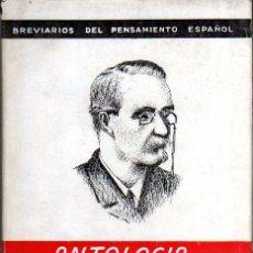 Libros de segunda mano: LUIS GARCÍA ARIAS. CANOVAS DEL CASTILLO. ANTOLOGÍA. 1ª ED. MADRID, 1944.. Lote 23118636