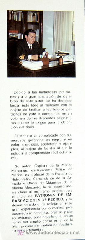 Libros de segunda mano: PATRONES DE EMBARCACIONES DE RECREO - SEGUNDA EDICION CORREGIDA Y AUMENTADA - JOSE DE SIMON QUINTANA - Foto 2 - 21056328