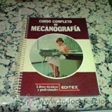 Libros de segunda mano: CURSO COMPLETO DE MECANOGRAFIA. Lote 194335702
