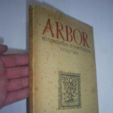 Libros de segunda mano: ARBOR REVISTA GENERAL DE INVESTIGACIÓN Y CULTURA FEBRERO 1952 RM41492. Lote 21441734