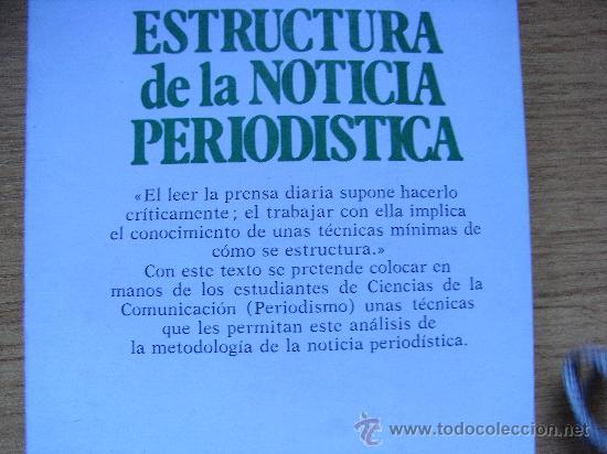 Estructura De La Noticia Periodística Mar Fon Sold