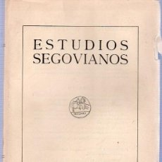 Libros de segunda mano: ESTUDIOS SEGOVIANOS. TOMO XVII NUMEROS 50 - 51. 1965. II - III. 25 X 18 CM.. Lote 21546167
