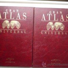 Libros de segunda mano: GRAN ATLAS UNIVERSAL 2 TOMOS, Nº 3 Y 4, AFRICA-AMERICA Y AMERICA-OCEANIA-NUEVOS. VER FOTOS.. Lote 21567918