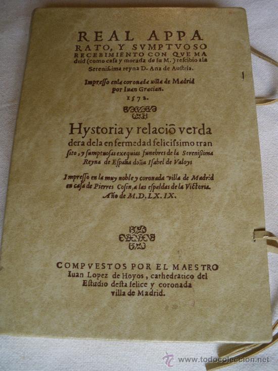 REAL APPARATO Y SUMPTUOSO RECEBIMIENTO CON QUE MADRID RECIBIO A D. ANA DE AUSTRIA. PORTES INCLUIDOS (Libros de Segunda Mano (posteriores a 1936) - Literatura - Otros)