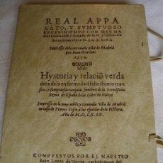 Libros de segunda mano: REAL APPARATO Y SUMPTUOSO RECEBIMIENTO CON QUE MADRID RECIBIO A D. ANA DE AUSTRIA. PORTES INCLUIDOS. Lote 27517469
