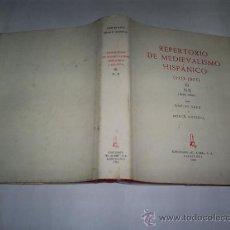 Libros de segunda mano: REPERTORIO DE MEDIEVALISMO HISPÁNICO 1955-1975 VOLUMEN III N-R EL ABIR 1983 RM39945. Lote 22009511