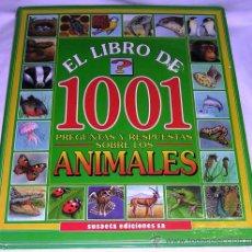Libros de segunda mano: EL LIBRO DE 1001 PREGUNTAS Y RESPUESTAS SOBRE LOS ANIMALES - SUSAETA - 1993 - M. B. EST.. Lote 23295276