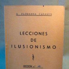 Libros de segunda mano: FASCICULO COLECCIONABLE, LECCIONES DE ILUSIONISMO, LECCION Nº16, FLORENSA CASASUS 1962, MULTICOP. Lote 22786965