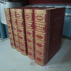 Libros de segunda mano: COSTUMARI CATALA 5 VOLUMENES DE JOAN AMADES CONSERVA TAPAS DE LOS FASCICULOS. Lote 27108274