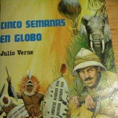 Libros de segunda mano: CINCO SEMANAS EN GLOBO – JULIO VERNE – UN CLÁSICO - BONITA PORTADA. Lote 23079863