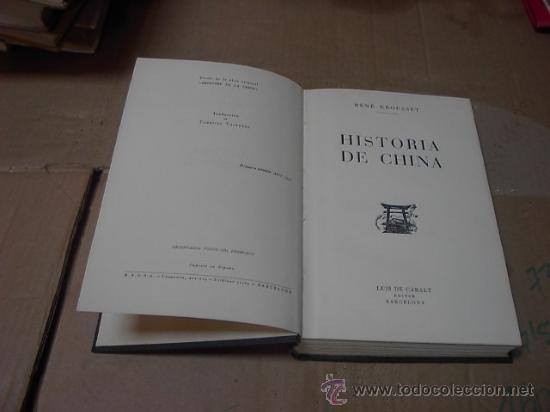 Libros de segunda mano: Historia de China, Rene Grousset, Ed. Luis Caralt, Barcelona, 1 ed. 1944 - Foto 2 - 22843896