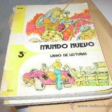 Libros de segunda mano: MUNDO NUEVO, 5 ANAYA (LIBRO DE LECTURA). Lote 23168352