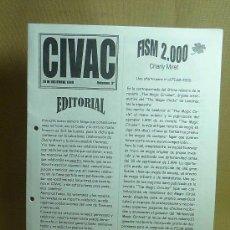 Libros de segunda mano: REVISTA DE MAGIA, CIVAC, OCTUBRE DE 1999, VOLUMEN 3, CIRCULO DE ILUSIONISTAS DE VALENCIA, ALICANTE . Lote 24152035