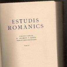 Libros de segunda mano: ESTUDIS ROMANICS XI, ESTUDIS DE LITERATURA CATALANA 2 OFERTS A J. RUBIO BALAGUER. BCN : IEC, 1962.. Lote 23484698