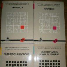 Libros de segunda mano: 4 LIBROS TEMARIO, CUESTIONARIO Y SUPUESTOS PRACTICOS CUERPO GENERAL ADMINISTRATIVO DE LA ADMINISTRAC. Lote 25421925