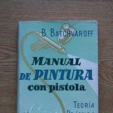 Libros de segunda mano: MANUAL DE PINTURA CON PISTOLA. TEORÍA. PRÁCTICA. SEGURIDAD. HIGIENE. B. BATCHVAROFF.. Lote 27324662