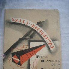 Libros de segunda mano: 1931. VALLS DOCUMENTAL FESTES DECENNALS DE LA CANDELA Y HOJA ADORNO CALLES. Lote 26674816