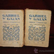 Libros de segunda mano: 1301- GABRIEL GALAN OBRAS COMPLETAS EN 2 TOMOS.EDIT COMPAÑIA IBERO AMERICANA S/F.. Lote 24150685