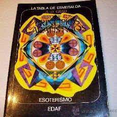 Libros de segunda mano: LA TABLA DE ESMERALDA/EL LIBRO DE LOS PRINCIOS CABALÍSTICOS - A.D. GRAD ¡¡ VER !!. Lote 27445655